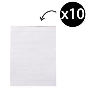 Winc Writing Pad A4 Ruled Recycled 50gsm White 100 Sheets Pack 10