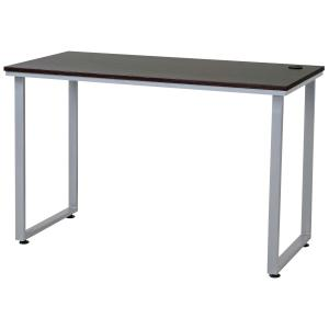 Staples Poula Loop Leg Desk 760H X 1200W X 600Dmm Dark Wood/Silver