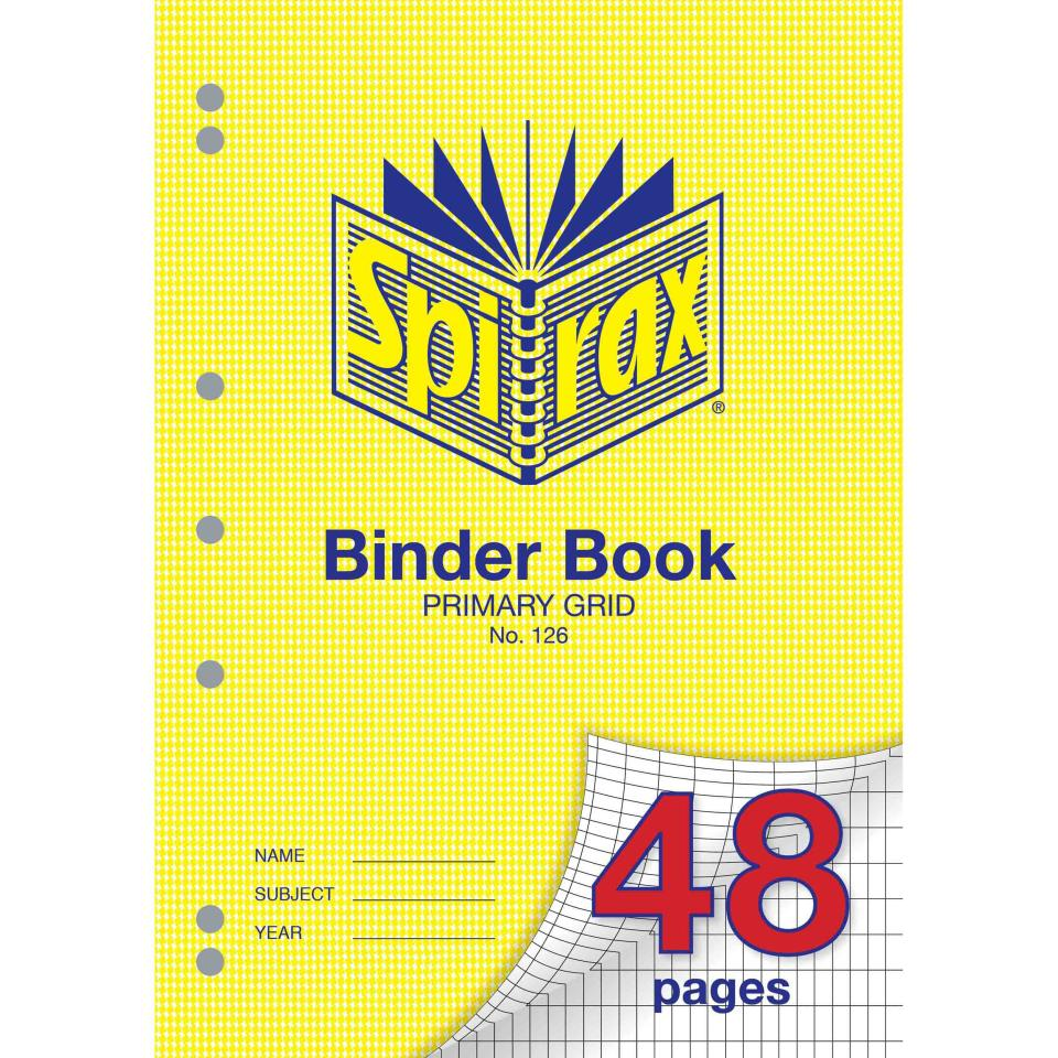 Spirax 126 A4 Binder Book 48 Pages Primary Grid