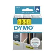 Dymo D1 Label Printer Tape 12mm x 7m Black On Yellow