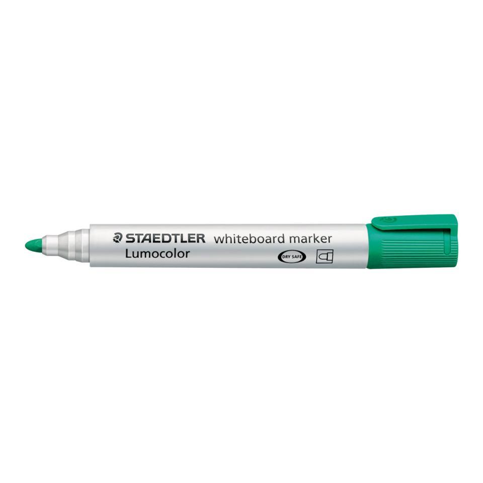 Staedtler Lumocolor Whiteboard Marker Bullet Point Green Box 10