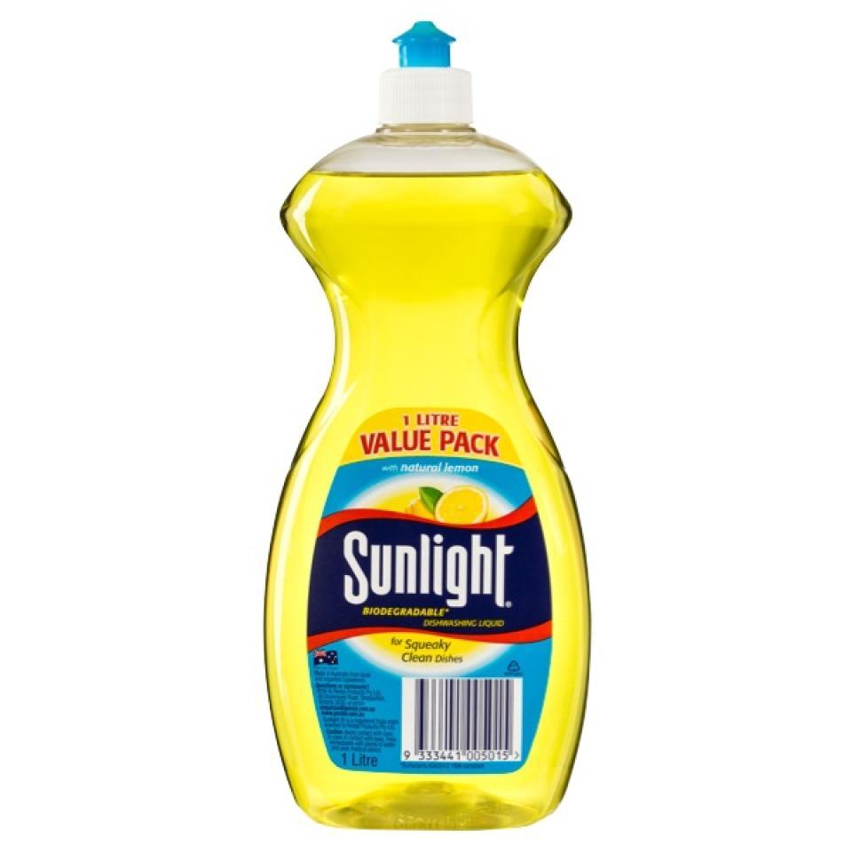 Sunlight Dishwashing Liquid 1 Litre Each