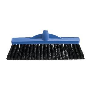 Oates B-12140 Broom Heavy Duty Stiff Jumbo Plastic 350mm Blue