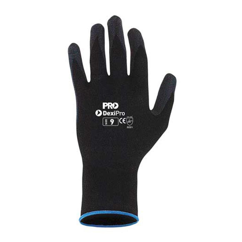 Paramount Safety Dexipro Foam Breathable Nitrile Gloves Size 8 Black Pack 12