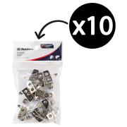 Corporate Express PVC Strap with Clip and Pin Pack 10
