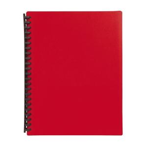 Winc A4 Display Book Refillable 20 Pockets Red