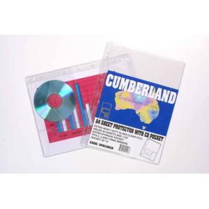 Cumberland Sheet Protectors A4 With CD Pocket Pkt 10
