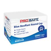 Disposable Bouffant Round Cap 24' PP Blue Pack of 100