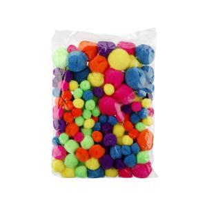 Pom Poms Assorted Neon Bag 150