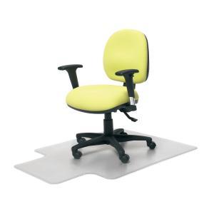 Marbig 87101 Chairmat Deluxe Medium Pile Keyhole Style 910X1210