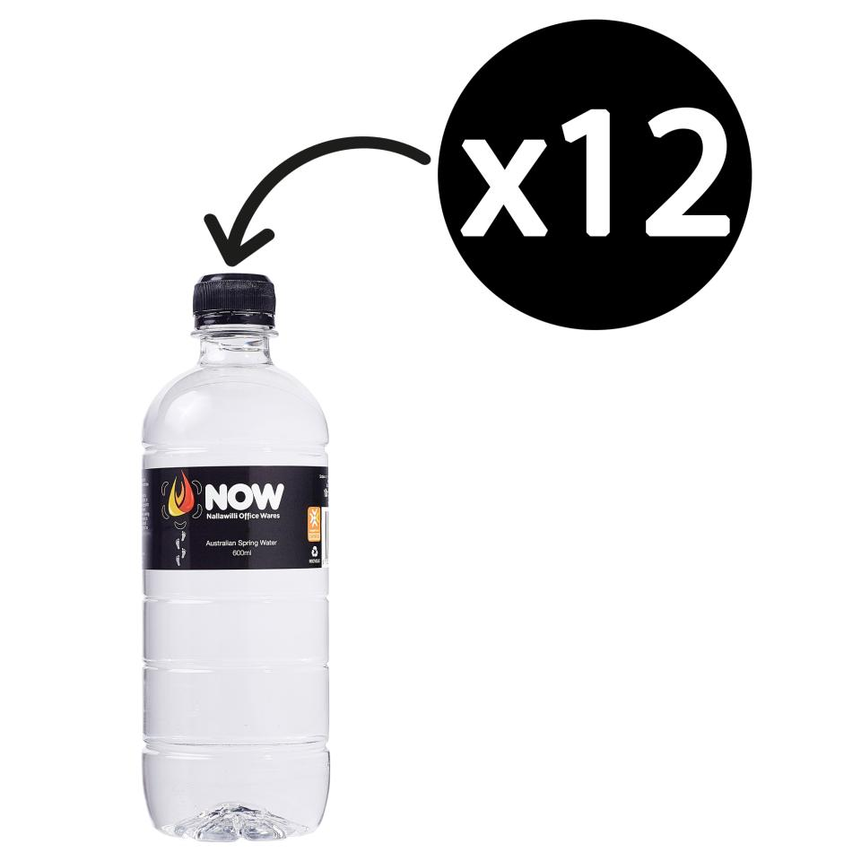 Nallawilli Office Wares Australian Spring Water 600ml Pet Bottle Carton 12
