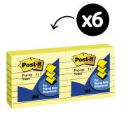 Post-It Notes Pop-Up Lined 76 x 76mm Canary Yellow Pack 6