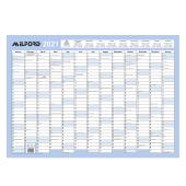 Milford 2021 Wall Planner Rewritable Laminated 695x495mm