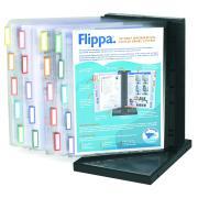Arnos Flippa Desktop Display System 20 Panels A4 Black