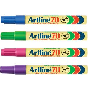 Artline 70 Permanent Marker Brights Assorted Box 12