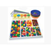 Educational Colours Counting And Sorting Kit 650Pcs
