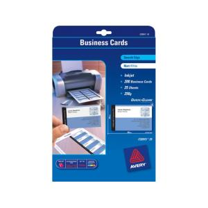 Avery double sided matt white business cards 250gsm for Staples brand business cards template