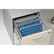 Telkee Suspension File Key Panel - 50 Key Capacity and 2 Key Lock Grey