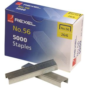 Rexel No. 56 Staples 26/6 Office Essential Box 5000