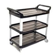 Sabco Utility Cart 3 Shelf Black
