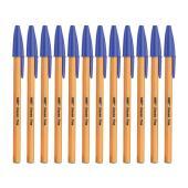 BIC Classic Ballpoint Pen Fine 0.7mm Blue Box 12