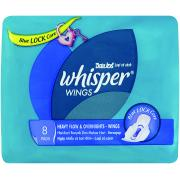 Procter & Gamble Whisper Heavy Flow And Overnights Wings Pkt8
