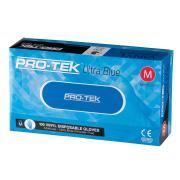Protek UItra Blue Disposable Vinyl Gloves Powder Free Medium Blue Box 100