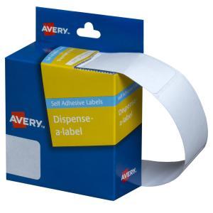 Avery White Rectangular Dispenser Labels - 49 x 24mm - 325 Labels - Hand writable