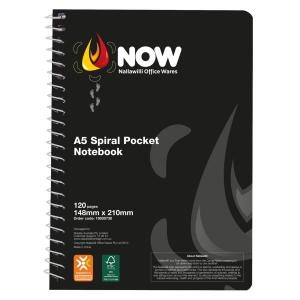 Nallawilli Office Wares Spiral Notebook A5 120 Pages