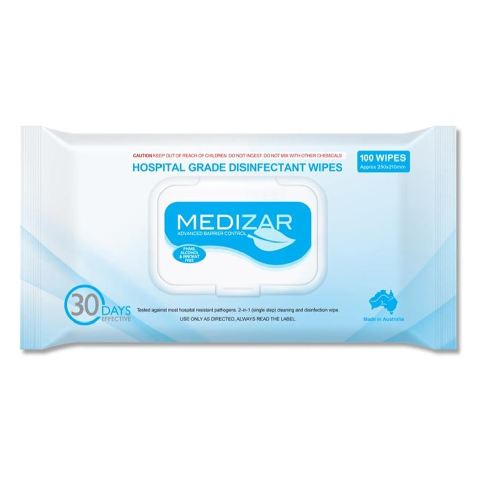 Medizar Hospital Grade Disinfectant Wipes Pack 100