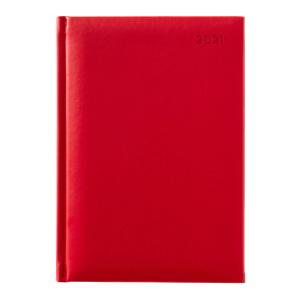 Winc Soft Touch 2021 Hard Cover Diary A5 Week to View Red