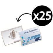 Durable Name Badge Click Fold Combi Clip 54X90mm Box 25