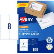Avery Shipping Labels with TrueBlock for Inkjet Printers - 99.1 x 67.7mm - 200 Labels