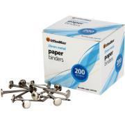 Officemax Metal Paper Binders 25mm Box Of 200