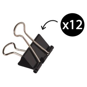 Winc 19mm Foldback Clips Box 12