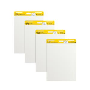 Post-It Super Sticky Easel Pad Value Pack White 635 x 775mm Pack 4