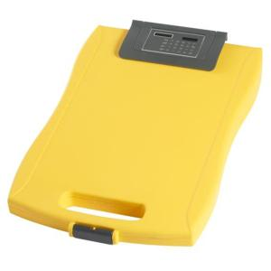 Staples Clipboard Storage Case With Calculator Yellow
