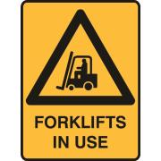 Brady Forklift In Use 450X300mm Poly Sign
