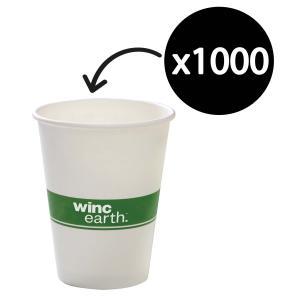 Winc Earth Paper Hot Cup 12Oz/400ml White Carton 1000