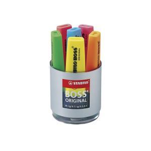 Stabilo Boss 7006 Highlighter Chisel Tip 2.0-5.0mm Desk Set 6