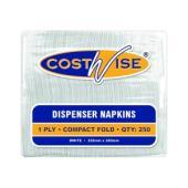 Costwise Hl-Napdis1Pwcf 1 Ply D-Fold Dispenser Napkin 225X240mm Carton 5000