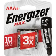 Energizer Max 1.5V Alkaline AAA Battery Pack 4