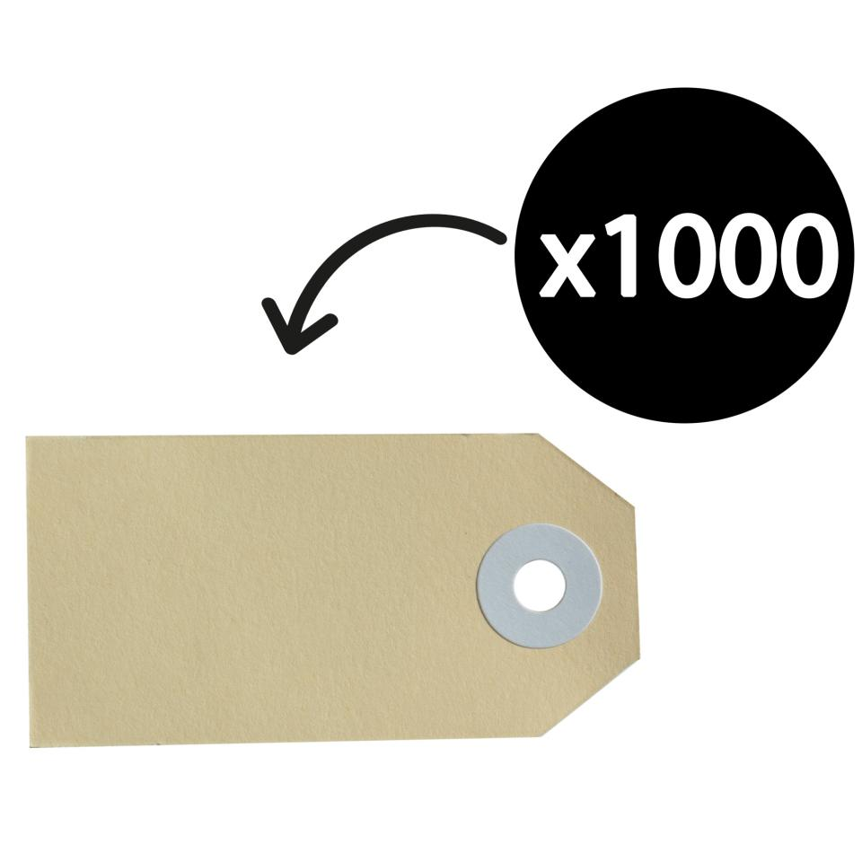 Avery Buff Shipping Luggage Tags - Size 1 - 70 x 35 mm - 1000 Tags