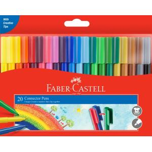 Faber-Castell Connector Pens Coloured Markers Assorted Pack 20
