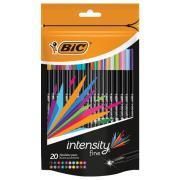 BIC Intensity Fineliner Pen Assorted Pack 20