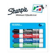 Sharpie Whiteboard Marker 2mm Bullet Assorted Colours Pack 4