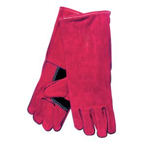 Safechoice Gloves Leather Grade 1 Kevlar Stitched Welding Gauntlet Red Pair