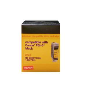 Staples CSIC-RPGI5BA Black Ink Cartridge