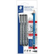 Staedtler Pigment Liner Artist Set Pack Of 3