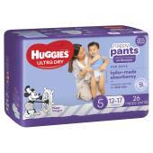 Huggies Ultra Dry Nappy Pants Walker Boy Pack 26 Carton Of 4